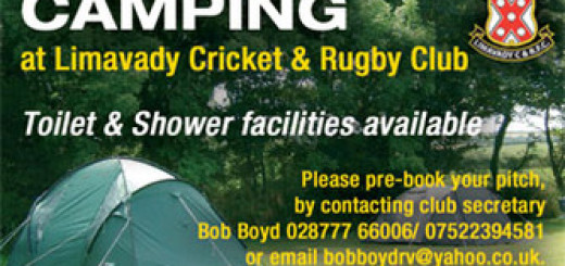 Festival Camping Facilities at Limavady Rugby Club